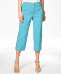 Jm Collection Embellished Capri Pants Only At Macy's Turquoise