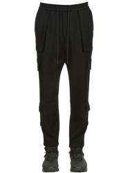 Juun.J Wool Felt Cargo Pants Black