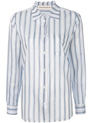 Shirtaporter Striped Fitted Shirt White
