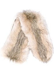 Urbancode Textured Furry Scarf Neutrals