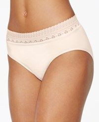Bali Comfort Revolution Lace Brief 803J Light Beige Lace Nude 01