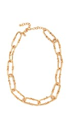 Kenneth Jay Lane 18 Gold Link Necklace