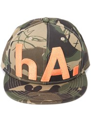 Haculla Camouflage Print Hat Cotton Green