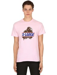 Xlarge Hungry Og Printed Cotton Jersey T Shirt Pink