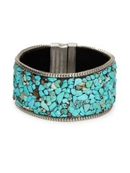 Design Lab Lord And Taylor Turquoise Bangle Bracelet Blue