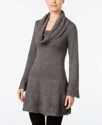 Styleandco. Style Co. Cowl Neck Tunic Sweater Only At Macy's Steel Heather Grey