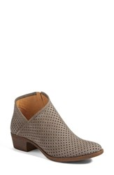 Lucky Brand Women's Breeza Perforated Bootie Dark Stone Leather
