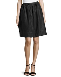 Halston Heritage Full Knee Length Skirt Black