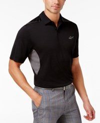 Greg Norman For Tasso Elba Men's Rapichill Performance Sun Protection Polo Only At Macy's Deep Black