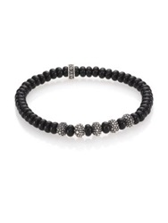 King Baby Studio Black Onyx And Sterling Silver Bead Bracelet Black Silver