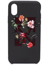 Off White Floral Iphone X Case Black
