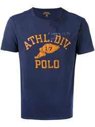 Polo Ralph Lauren Printed Short Sleeve T Shirt Blue