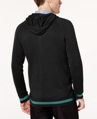 Ryan Seacrest Distinction Men's Modern Fit Sweater Hoodie Created For Macy's Black