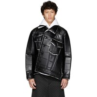 Comme Des Garcons Homme Plus Black Synthetic Leather Padded Jacket