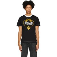 Versace Jeans Couture Black Barocco Chain T Shirt