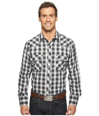 Roper 921 Silver Mine Plaid With Silver Lurex Grey Men's Clothing Gray