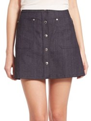 Rag And Bone Siggy Denim Mini Skirt Indigo
