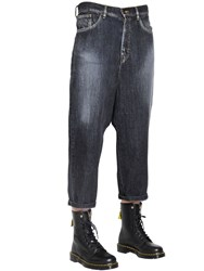 Y's Wide Washed Cotton Denim Jeans