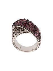 John Hardy Classic Chain Overlapping Ring Silver