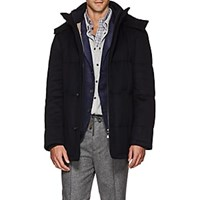 Barneys New York Bramante Water Repellent Cashmere Coat Navy