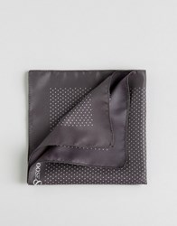 Noose And Monkey Pocket Square Pindot Made In Italy Grey