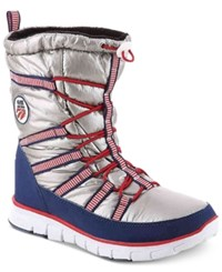 Khombu Alta Cold Weather Ski Boots Women's Shoes Silver
