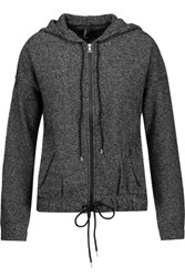 J Brand Hueneme Stretch Knit Hooded Jacket Dark Gray