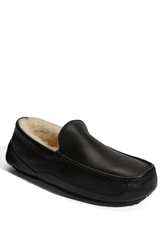 Ugg 'Ascot' Leather Slipper Men Black
