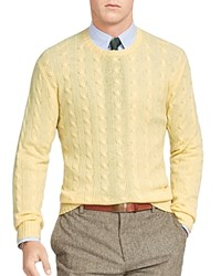 Polo Ralph Lauren Cashmere Cable Knit Sweater Fall Yellow