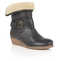 Lotus Madara Leather Ankle Boots Black