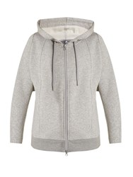 Adidas By Stella Mccartney Essentials Zip Through Hooded Sweatshirt Grey