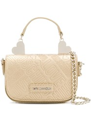 Love Moschino Mini Crossbody Bag Metallic