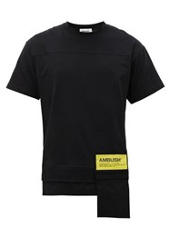 Ambush Waist Pocket Logo Print Cotton Jersey T Shirt Black