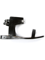Markus Lupfer Jeweled Sandal Black