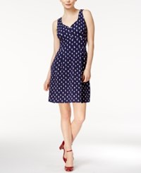 Maison Jules Printed A Line Dress Only At Macy's Blu Notte Combo