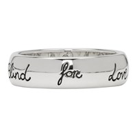 Gucci Silver 'Blind For Love' Ring