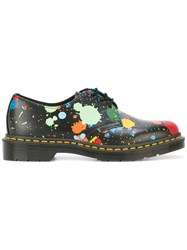 Dr. Martens Floral Print Shoes Black