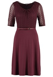 Comma Jersey Dress Cranberry Dark Red