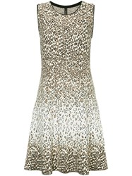 Marc Cain Leopard Print Dress Nude And Neutrals