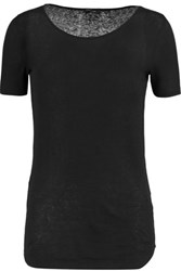 Joseph Ribbed Cotton And Modal Blend Top Black