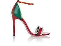 Gucci Women's Ilse Leather Sandals Red Green Blue White