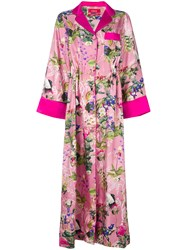 F.R.S For Restless Sleepers Long Kimono Dress Pink And Purple