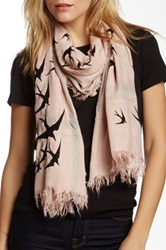 Leigh And Luca Classic Rectangle Fringe Scarf Black