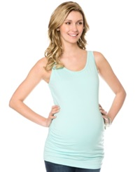 Motherhood Maternity Ruched Tank Top Teal