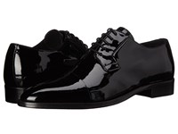 The Kooples Patent Leather Cap Toe Oxford Black Men's Lace Up Cap Toe Shoes