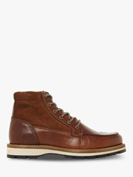 Bertie Canyon Apron Stitching Lace Up Hiker Boots Tan