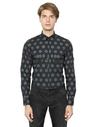 Dolce And Gabbana Polka Dot Cotton Poplin Shirt