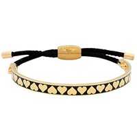 Halcyon Days Heart Friendship Bracelet Black Gold Black Gold