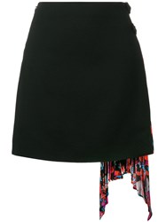 Givenchy Side Pleated Skirt Black