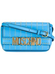 Moschino Studded Crossbody Bag Blue